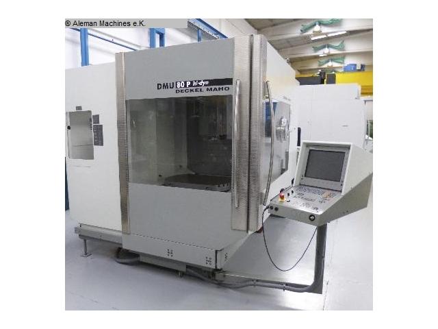 Used dmg deckel maho gildemeister dmu 80 p hi dyn machine for Dmg deckel maho